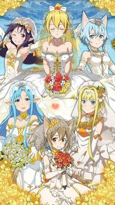 sword art online memory defrag getting wedding Otaku Anime, Manga Anime, Arte Online, Online Art, Tous Les Anime, Desenhos Love, Sword Art Online Wallpaper, Sword Art Online Kirito, Accel World