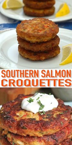 Fried Salmon Patties, Salmon Croquettes, Salmon Patties Recipe, Healthy Salmon Patties, Fish Croquettes Recipe, Fish Patties, Fish Recipes, Seafood Recipes, Mexican Food Recipes