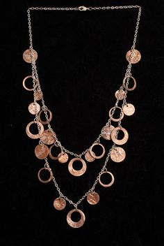 Double Layered Penny Necklace. $36.00, via Etsy.