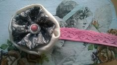 DIY Hairband for kids ❤  lace and fabric flower