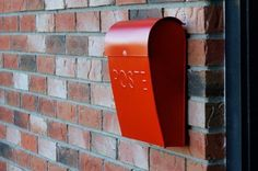 Mailbox Red Vintage Postal Retro Wall Mount Steel POST Box Rural Country Mail #NACH