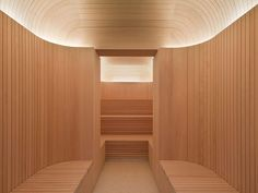 High-style sauna at the Akasha Spa, Hotel Cafe Royal London designed by David Chipperfield London Hotels, Spa London, London Cafe, Spa Design, Royal Design, Spa Interior Design, Arch Interior, Saunas, Wellbeing Centre