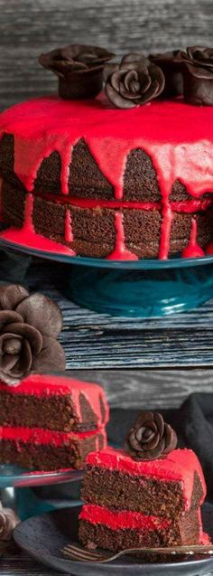 This Bloody Good Double Chocolate Halloween Cake from An Italian in My Kitchen is a scary but yummy Halloween treat. A deliciously moist chocolate cake with buttercream filling is dripping with white chocolate ganache!