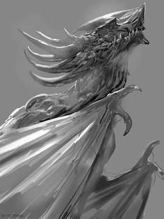 Dragon Sketches, Sandra Duchiewicz on ArtStation at https://www.artstation.com/artwork/2vADv