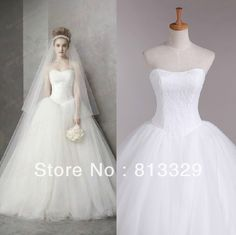New arrival white fashion sweetheart off-shoulder sexy floor-length lace and organza ball gown wedding dress 2014