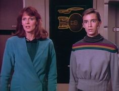 Dr Beverly Crusher and son Wesley from Star Trek: The Next Generation