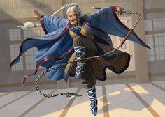 Female monk, elderly but still kicking ass. dungeoncrawlersltd: Jeskai Elder | Art by Craig J Spearing