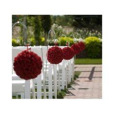 Boule de fleurs rouge 20cm 7,50€    baliser l'allée ?
