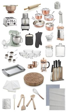"""Shop Copper Colander, J.K. Adams Co. Rolling Pin, Calphalon Tri-Ply Copper 10-Piece Cookware Set, French Kitchen Marble Butter Keeper, Rösle Garlic Press, Copper Salt Mill, Copper Pepper Mill, French Kitchen Marble Mortar and Pestle, Professional Oven Mitt, Cuisinart ® 14-Cup Food Processor, Cuisinart ® Classic 4-Slice Toaster, KitchenAid ® Artisan Pistachio Stand Mixer, Set of 5 All-Clad ® Measuring Cups, 10-Piece 2.25""""-10.25"""" Glass Nesting Bowl Set, Fido 1-Liter Jar with Copper Clamp Lid…"""