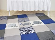 #playmat #play_mat #navy #babyrug Play Mat Large Elephant Baby Rug, Padded Navy Gray Playmat, Chevron BabyMat Let me introduce my latest product, a lovely, soft playmat. It is