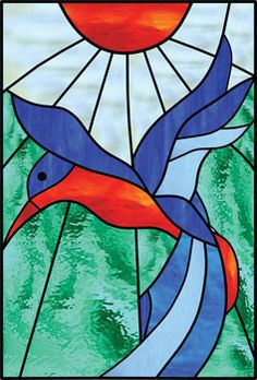 Beautiful 'Hummingbird' from stained-glass artist, Carol Arnold