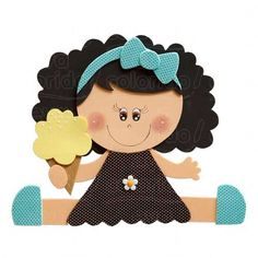 Niña goma eva Foam Crafts, Diy And Crafts, Crafts For Kids, Cute Cartoon Wallpapers, Punch Art, Doll Face, Kids Cards, Flower Making, Paper Piecing