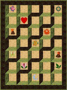 Attic Window Quilt Pattern- Love how it looks 3 Dimensional!