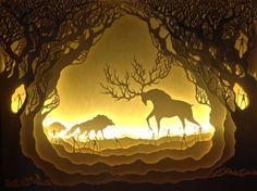 Paper Cut Light Boxes Illuminate Fantastical Fairy Tale Scenes | Inhabitots