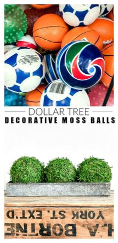 Dollar Store DIY: How to Make Decorative Moss Balls Dollar Store DIY: Wie man dekorative Moosk. Diy On A Budget, Decorating On A Budget, Home Crafts, Diy And Crafts, Recycled Crafts, Handmade Crafts, Sharpie Art, Floral Foam, Dollar Tree Crafts