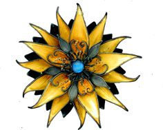 Judith Kinghorn  brooch/pendant-sterling silver, 24 karat gold, 22 karat gold granulation with blue moonstone