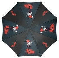 Wish | Cool Harley Quinn Pattern Designed 100% Polyester Pongee Waterproof Fabric Foldable Umbrella (Color: Multicolor)