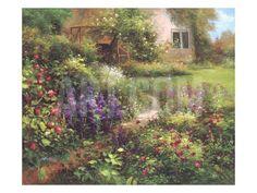 The Secret Garden Art Print by Gabriela at Art.com
