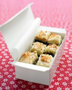 Gluten free Coconut bar cookies as gift