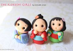 These are just adorable - The Kokeshi Girls, by mimicafe Union, NY