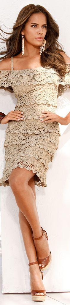 Boston Proper Cold-Shoulder Crochet Dress