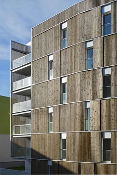 The project for 66 social housing units and retail units, in two six-storey buildings, stands out due to its wood-covered lightweight openwork facade.   This...