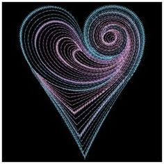 Rippled Neon Hearts 01(Lg) machine embroidery designs