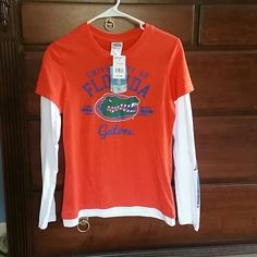 NWT Florida Gators Womens Tshirt Get your tailgate on! Long sleeved, never worn. Go Gators! Tops Tees - Long Sleeve