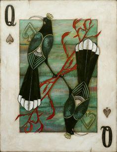 Huia Queen by Kathryn Furniss - prints New Zealand Art, Nz Art, Maori Art, Aboriginal Art, Artist Painting, Bird Art, Canvas Art Prints, Online Art, Unique Art