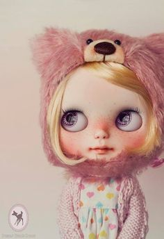Cutie of the Day  by poisongirldolls Check all Blythe Doll Customizers at www.dollycustom.com
