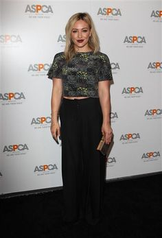 Hilary Duff arrives at the ASPCA celebrates its commitment to save animals in Beverly Hills, Calif., on May 7, 2014.