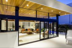 Sliding doors are a great solution for both visual impact and practicality.