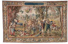 For Sale on - Large Aubusson style tapestry with an orientalist century scene depicting Arabs figures and Middle Eastern Moorish architecture in the background. Tapestry Weaving, Wall Tapestry, Large Tapestries, Medieval Tapestry, Grand Designs, Showcase Design, Walking, 16th Century, Textile Art
