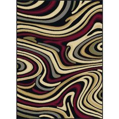 Bliss Rugs Riverdale Contemporary Area Rug, Black