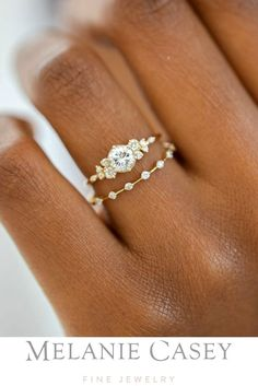 Wedding Rings Vintage, Wedding Jewelry, Bohemian Wedding Rings, Unique Wedding Rings, Vintage Weddings, Wedding Ring Styles, White Gold Wedding Rings, Rose Gold Rings, Indian Wedding Rings