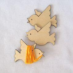 Peeps the Bird Embroidery Floss Holder (Set of 3)