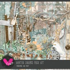 Winter Dreams Page Kit  by #heartjournaling #thestudio #digitalscrapbooking