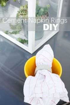 These DIY cement napkin rings are super simple to make and fun to customize!