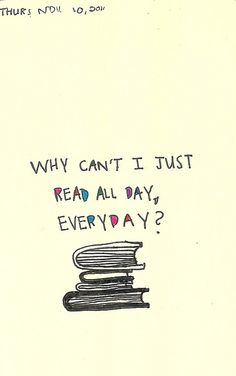 I'd rather be reading...