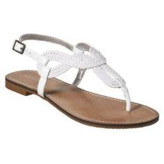 Women's Merona® Emeline Braided Flat Sandals - White   Shop fashion, accessories  Kaboodle