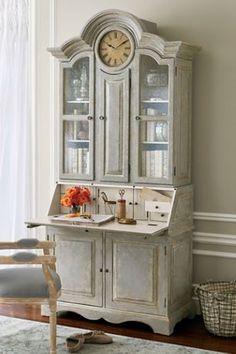 Soft Surroundings - the selma cabinet. beautiful lines, soft colours.. i need it.