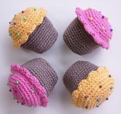 Häkeln Muffins Anleitung 2