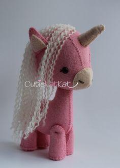 Pink Felt Unicorn