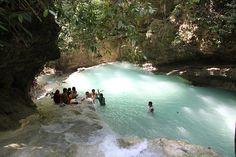 Waterfall trekking in Cebu.