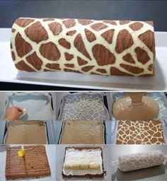 Giraffe Swiss Roll Recipe - AllDayChic