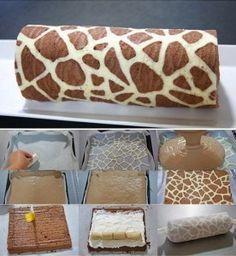 Giraffe Swiss Roll Recipe - AllDayChic