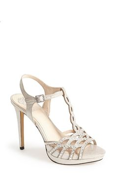 Free shipping and returns on Vince Camuto 'Cristiana' Platform Sandal (Women) at Nordstrom.com. Tiny sparkling jewels dance atop the lustrous suede straps of a glam-chic platform sandal that's perfect for any special occasion.