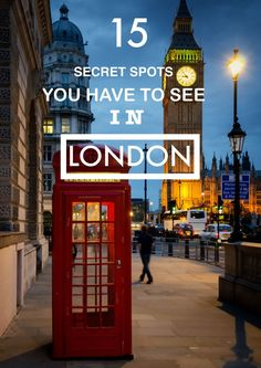 15 Amazing Secret Spots You Have To See In London! , 15 Wonderful Secret Spots You Have To See In London! 15 Wonderful Secret Spots You Have To See In London! Travel Advice, Travel Tips, Solo Travel, Travel Quotes, Travel Vlog, Travel Deals, Travel Hacks, Hawaii Travel, The Places Youll Go