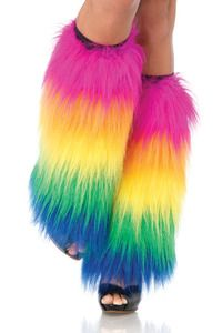 Furry Rainbow Leg Warmers!