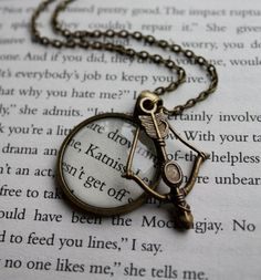Hunger Games Katniss Bow & Arrow Charm on Long Necklace